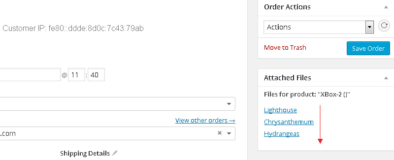 Multiple files uploaded to WooCommerce Order