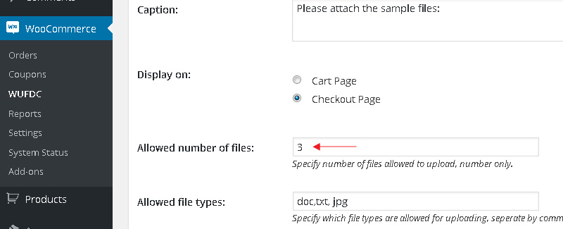WooCommerce checkout process multiple files upload option